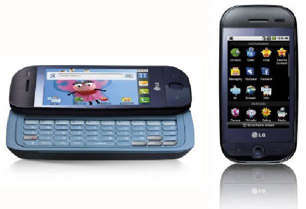 LG전자가 지난해말 해외시장에 선보인 안드로이드폰 'GW620'. 이달 중 국내에 모델명 'KH5200'으로 출시된다.