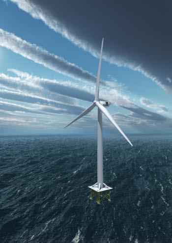 베스타스가 최근 공개한 7㎿급 풍력발전기 `V164`의 이미지.