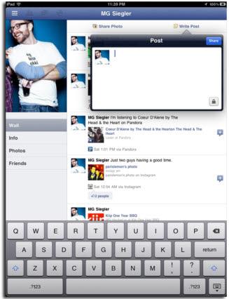 페이스북 아이패드 앱, 10월 4일 맞춰서 발표하나