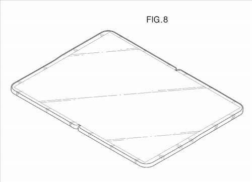 삼성전자가 미국 특허청에 등록한 접는 태블릿PC 특허 도면.