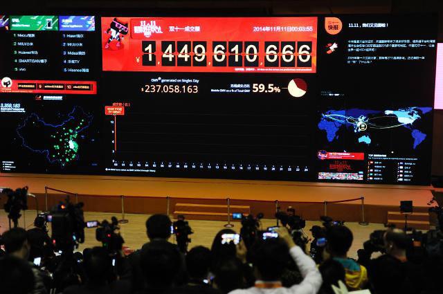 알리바바 싱글데이, 중국 지방 매출이 10% 이상 차지