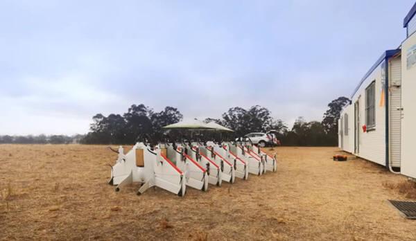 구글은 지난 해 8월 호주의 외딴 농장에서 드론을 이용한 화물운송을 시험했다. 사진=구글동영상 캡처