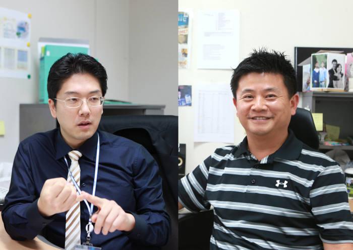 김민수 DGIST 정보통신융합공학전공 교수(왼쪽)와 구재형 뇌·인지과학전공 교수