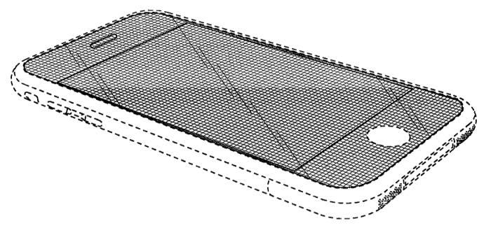 지난 5일 무효 판결 받은 애플의 디자인 특허 D677 단면도 / 자료: 미국 특허청