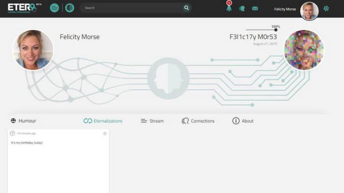 이터9에서 사용자가 자신처럼 행동하는 가상의 `짝궁(Counterpart)`과 연결된 모습. <이터9 제공>