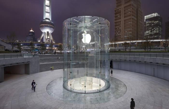 중국 상하이 애플스토어 전경