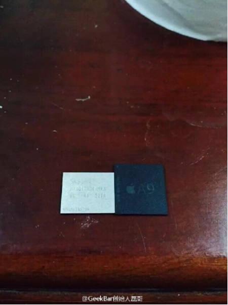 기크바가 공개한 사진. A9칩셋과 알루미나로 보인다. 사진=웨이보