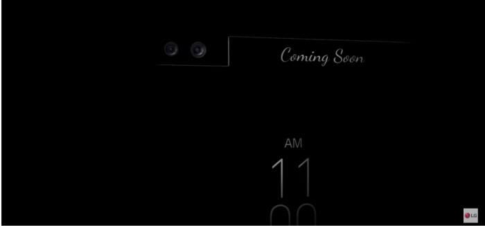 LG전자 슈퍼프리미엄폰 예고 광고(티저) 영상에는 듀얼 카메라 적용을 암시하는 부분이 나온다(자료:LG Mobile Global 유튜브 캡쳐)