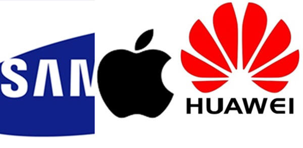 3분기 세계스마트폰 시장의 순위는 지난분기와 마찬가지로 삼성,애플,화웨이의 순이었다. 하지만 삼성은 스마트폰시장 점유율 1위를 차지한 이래 처음으로 25%이하 점유율을 기록했다. 화웨이는 중국업체로는 처음으로 분기중 1천만대를 출하하는 기염을 토했다.