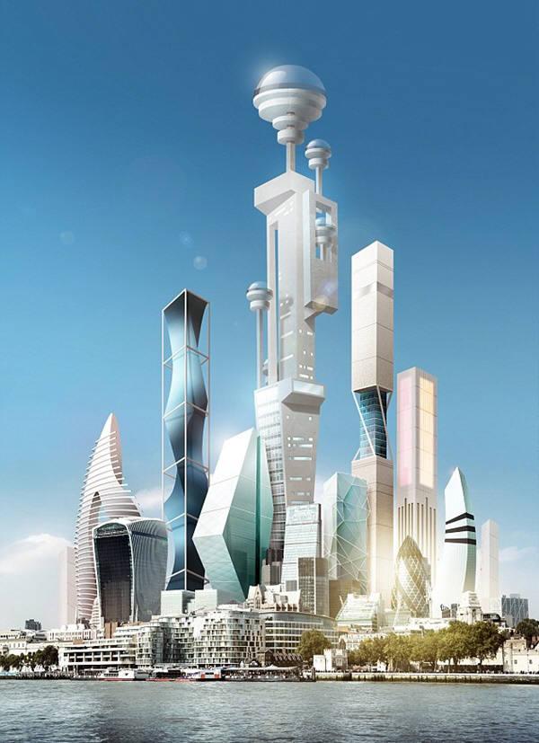 오는 2045년이 되면 개성을 가지고 인공지능화된 초고층빌딩이 도처에 세워질 전망이다. 사진=휴든