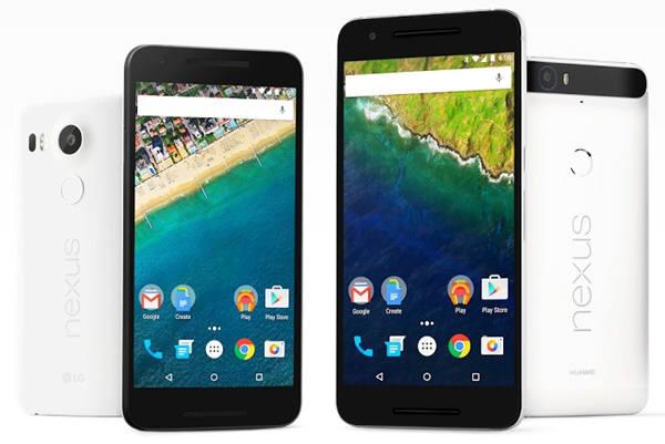구글이 LG전자,화웨이를 통해 내놓은 넥서스5X(왼쪽)와 넥서스6P.