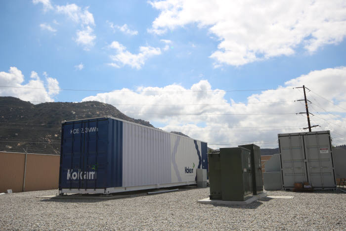 코캄이 지난 9월 미국 샌디에이고에 구축한 신재생에너지 연계형 대용량 ESS.