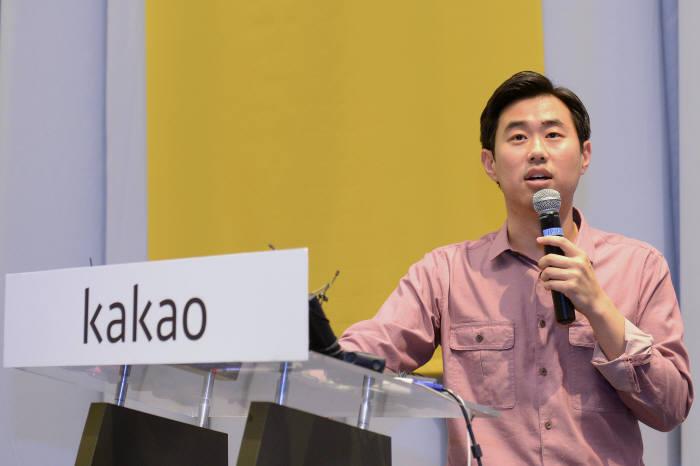 임지훈 카카오 대표는 지난달 26일 기자간담회에서 O2O서비스에 집중한다고 발표했다. <전자신문DB>