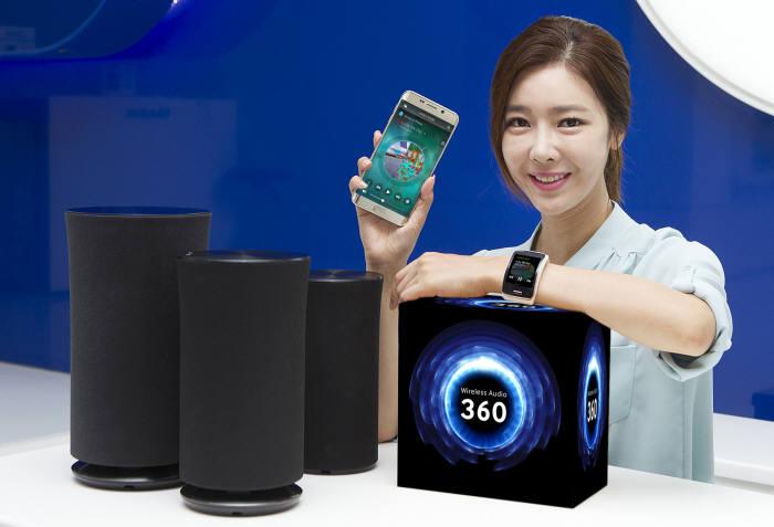 삼성전자 영상디스플레이(VD)사업부가 출시한 `무선 360 오디오` <전자신문DB>