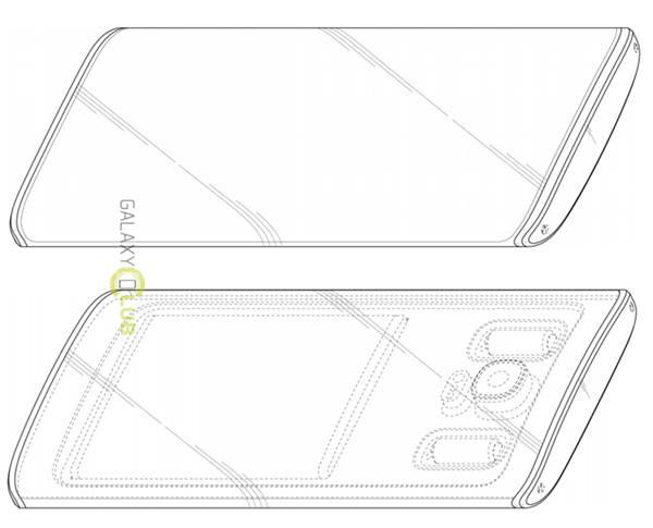 삼성이 한국특허청으로부터 특허받은 미래형 스마트폰 컨셉. 홈버튼이 없다. 사진=KIPRIS/갤럭시클럽
