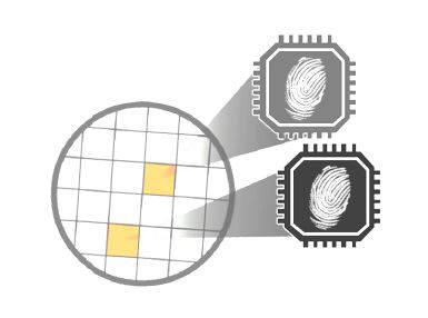 PUF는 물리적으로 복제가 불가능한 반도체에 있는 지문과 같은 미세구조 편차를 이용한다. (자료:ICTK)