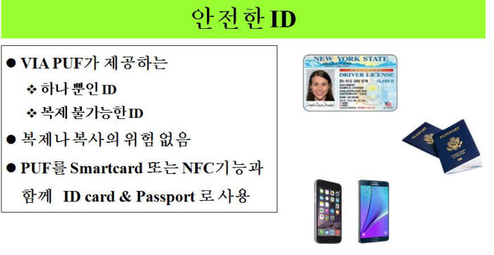 PUF를 이용해 복제 불가능한 안전한 ID를 만들 수 있다.(자료 :ICTK)