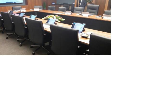우암이 문화방송에 구축한 스마트 전자회의시스템.