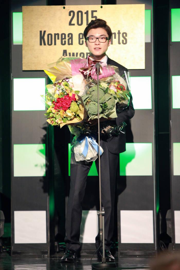2015 e스포츠 대상을 수상한 SK T1 페이커 이상혁