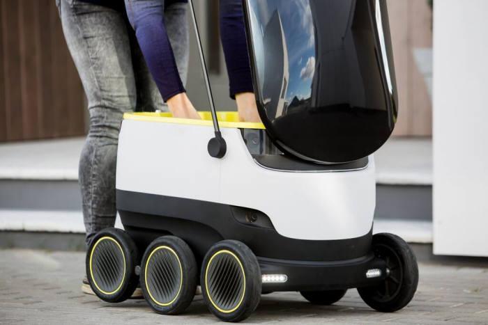 스타십 테크놀로지스가 개발한 배달용 로봇