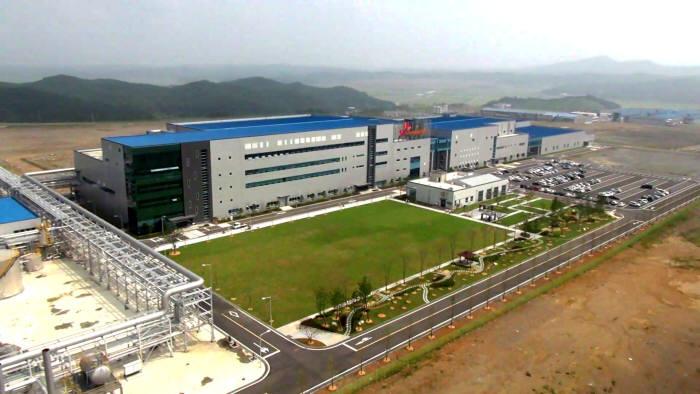 SK이노베이션의 중대형 배터리 생산설비가 들어선 서산 공장 전경.