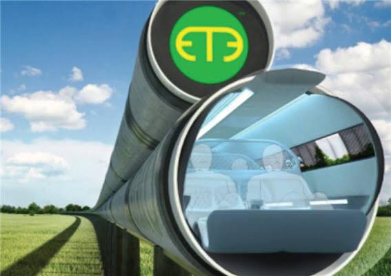 `진공관 운송수단(Evacuated Tube Transport·ETT)` 개념도.(자료:ET3)