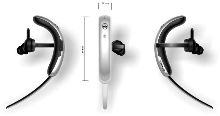 한중 합작법인인 유이어에서 오는 9월에 출시할 예정인 스마트 블루투스 이어폰 제품 사진