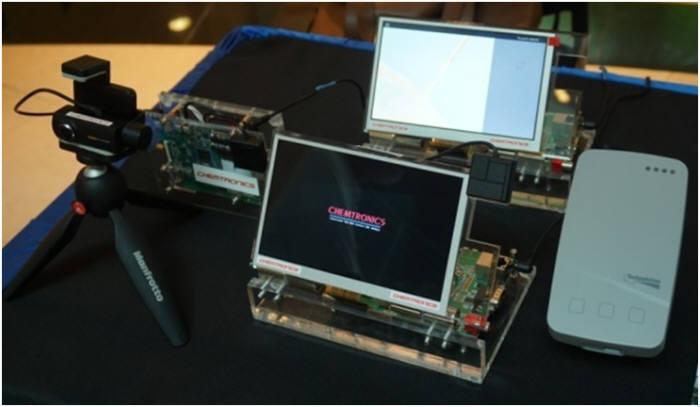 켐트로닉스가 NXP-NTU 인더스트리 파트너십 쇼케이스에 출품한 OBU 모듈