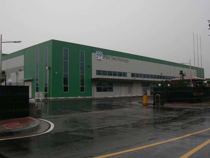 이엔에프테크놀로지 반도체 식각액을 생산하는 팸테크놀로지 충남 아산 공장. 팸테크놀로지는 이엔에프테크놀로지 계열사.