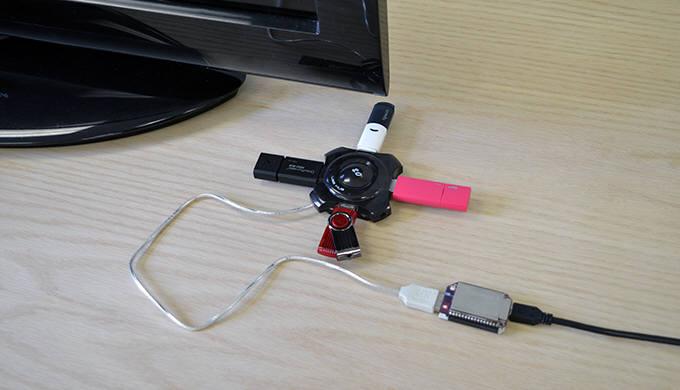 오메가2를 이용해 USB메모리로 미디어서버를 구축한 모습
