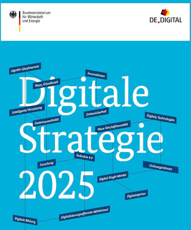 독일 연방정부가 발표한 디지털전략 2025 보고서 표지.