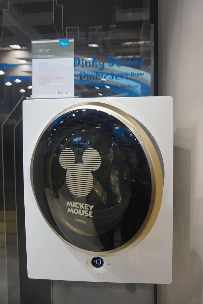 중국 업체 미디어의 3KG대 벽걸이 미니 드럼 세탁기 /사진=박소라 기자