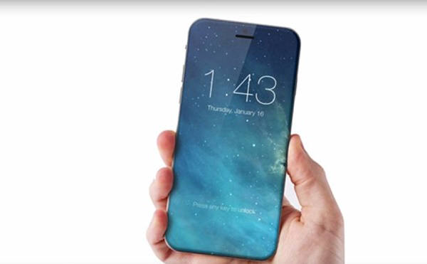 홈버튼이 사라지고 전면이 디스플레이로 꾸며진 아이폰 예상도. 체코디자이너 마렉 와일드리히가 디자인했다. 사진=마렉 와일드리히/컨셉아이폰