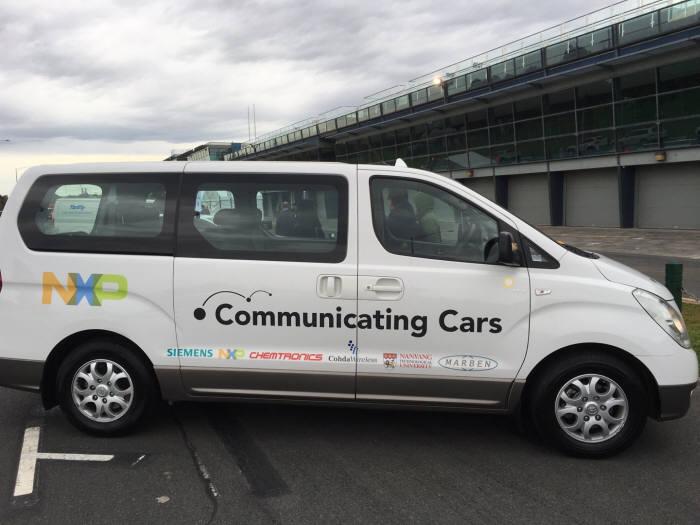 V2X 실차 테스트에 사용할 차량(사진=켐트로닉스)