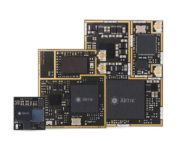 삼성전자 IoT 개발 모듈 아틱1, 아틱5, 아틱10 시리즈. 2세대 아틱 플랫폼에는 아틱7이 추가된다. 초저전력이 특징인 아틱0 시리즈도 다양한 스펙으로 출시될 예쩡이다.