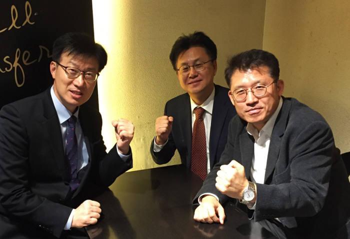 금융 보안 담당자에서 다시 현장으로 돌아온 보안전문가들. 이인건 부장, 오세천 이사, 이익준 전문위원(왼쪽부터).