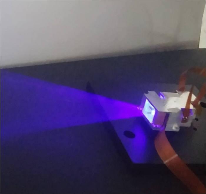 센플러스 레이저 스캐너 작동 모습