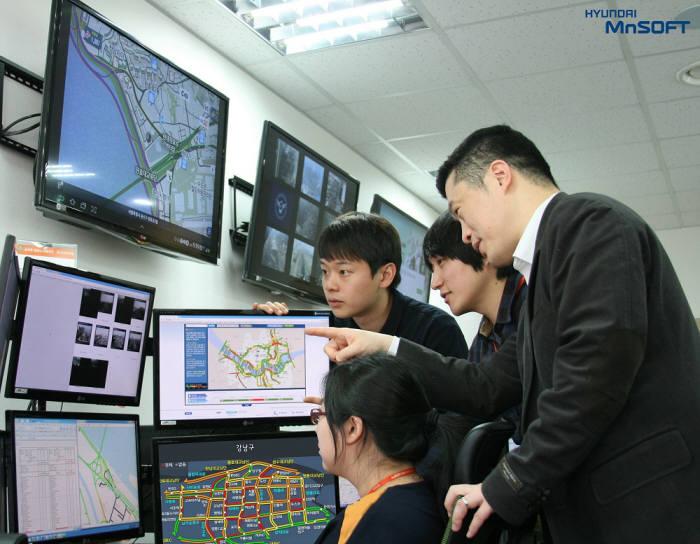 현대엠엔소프트는 설 명절 안정적 서비스 제공 위해 `비상근무` 체제 가동했다.<현대엠엔소프트 제공>