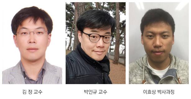 왼쪽부터 김정, 박인규 KAIST 기계공학과 교수, 이효상 박사과정