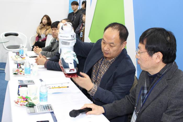대구테크노파크 스포츠융복합산업지원센터 스포츠거점육성사업 품평회 모습.