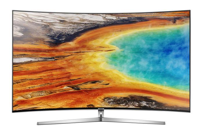 커브드 디자인을 적용한 삼성전자 프리미엄 UHD TV 'MU 9500'