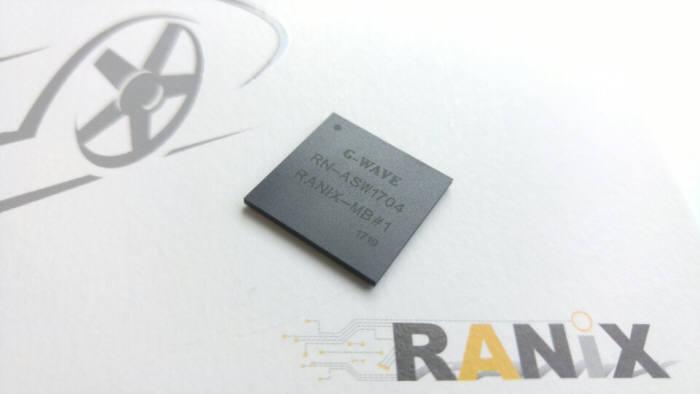 라닉스는 자율주행자동차 통신 모뎀칩인 지웨이브(G-WAVE)를 공개했다.