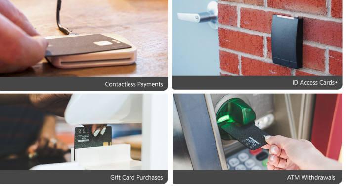 다양한 카드를 등록해 현금 출금부터 기프트카드 구매, 비접촉 결제, 아이디 출입카드 등을 퓨즈 카드 한장으로 이용할 수 있다.