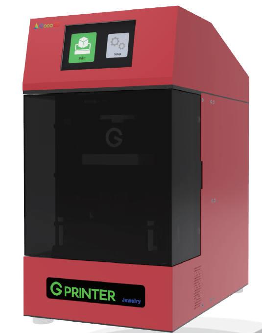 굿쓰리디가 개발한 주얼리 전용 3D 프린터.
