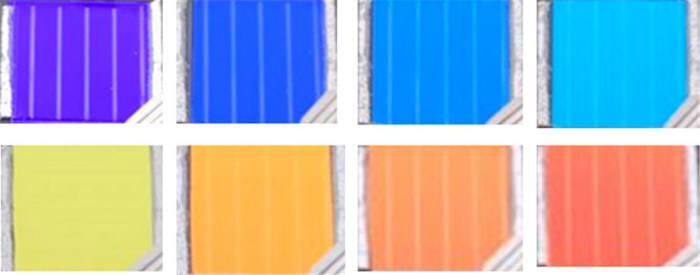 그림2. 민병권 한국과학기술연구원 청정에너지연구센터장팀이 개발한 형형색색 창호용 태양전지 (출처: KIST)