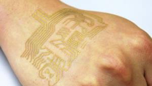 피부에 장시간 붙일 수 있는 초박형 전자회로 개발