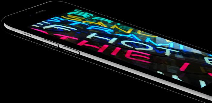 LCD를 사용한 아이폰7플러스(출처: 애플 홈페이지)
