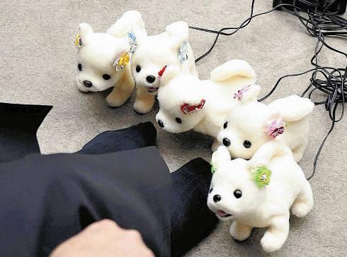 일본 벤처기업 테크놀로지가 출시한 사람 발 냄새를 측정하는 강아지 로봇 하나짱. <자료:요미우리신문>