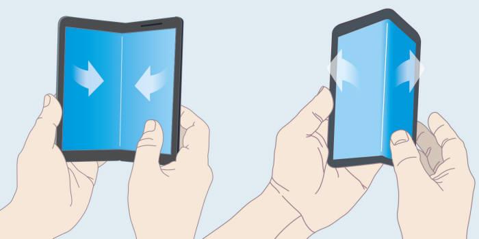 인폴딩 방식(왼쪽)과 아웃폴딩 방식 비교.