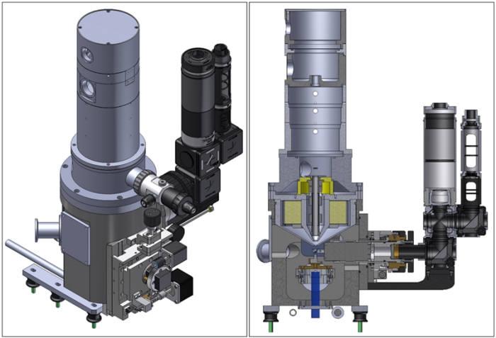 광전자 융합현미경의 외부 및 내부 3차원 이미지